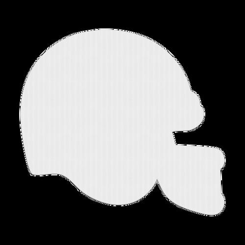 """18"""" Football Helmet Corrugated Plastic Sign Blanks"""