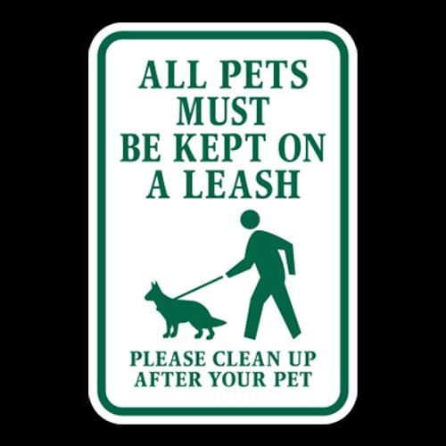 POL-ALT All Pets Must Be Kept on A Leash