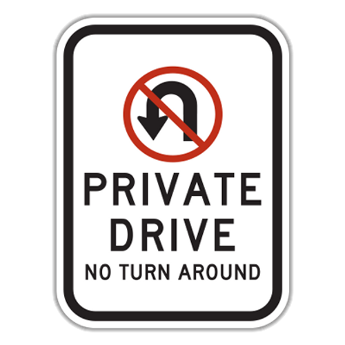PDR Private Drive No Turn Around