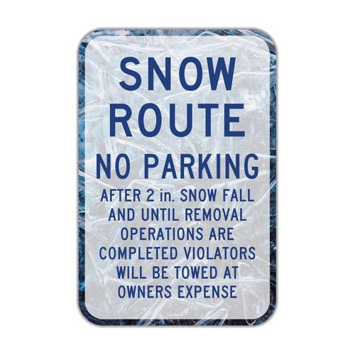 R7-203b Snow Route No Parking