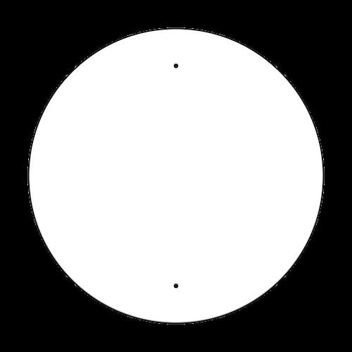 """24"""" Circle Non-Reflective Sign Blank"""