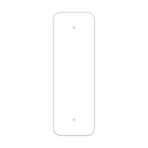 "8"" x 24"" Non-Reflective Sign Blank"