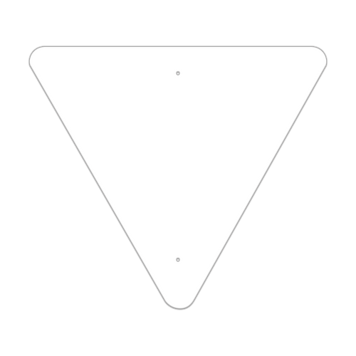 """36"""" Triangle Non-Reflective Sign Blank"""