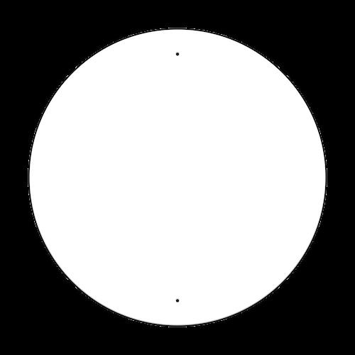 """36"""" Circle Non-Reflective Sign Blank"""