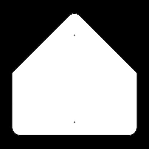"""30"""" Pentagon Non-Reflective Sign Blank"""
