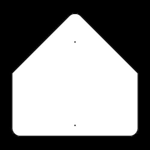 """36"""" Pentagon Non-Reflective Sign Blank"""
