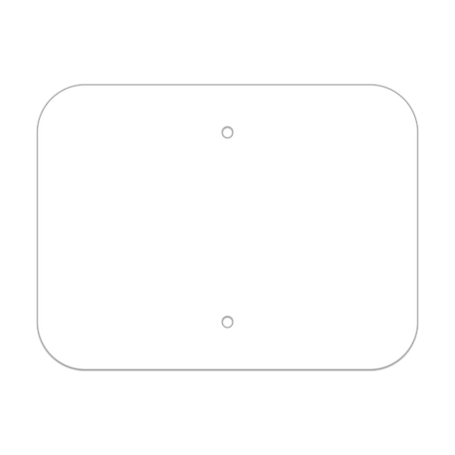 "12"" x 9"" Non-Reflective Sign Blank"