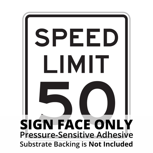 R2-1 Speed Limit Sign Face