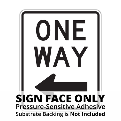 R6-2 One Way Sign Face