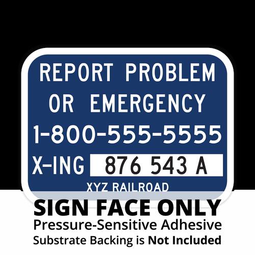 I-13 Alternate Emergency Notification Sign Face