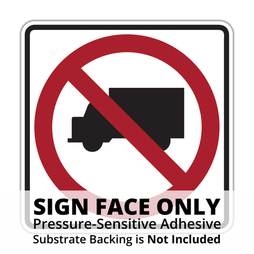 R5-2 No Trucks Sign Face