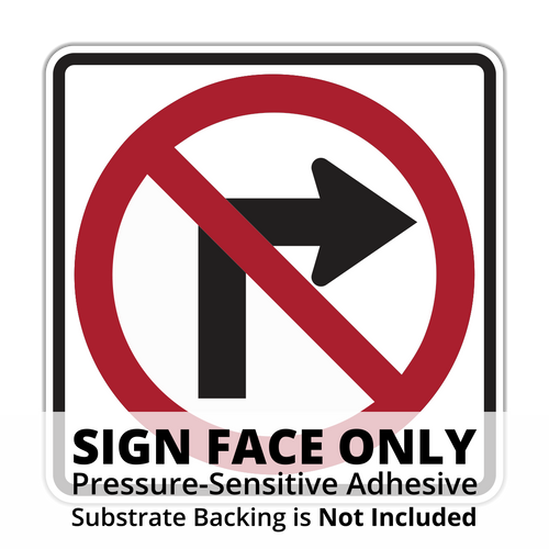 R3-1 No Right Turn Sign Face