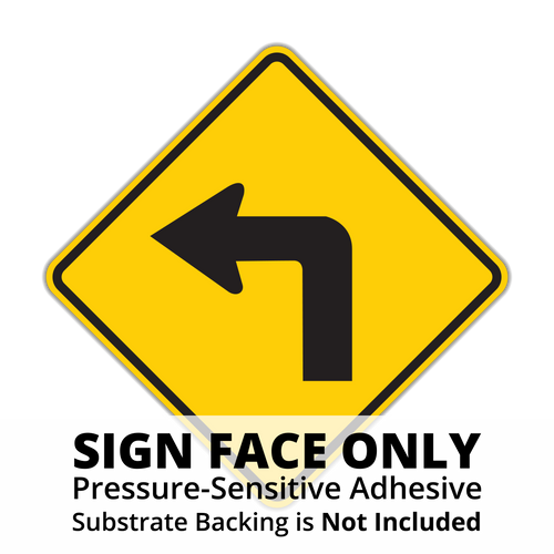 W1-1 Turn Sign Face