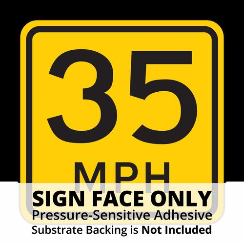 W13-1P Advisory Speed Sign Face