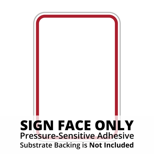 HR7-114 Red Border on White Sign Face