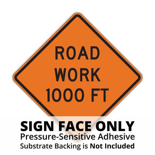 W20-1 Road Work Sign Face
