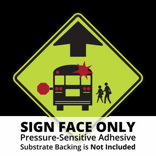 S3-1 School Bus Stop Ahead Sign Face