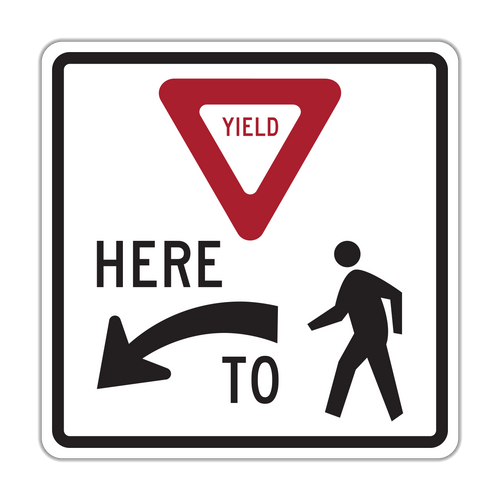 R1-5 Yield Here to Pedestrians