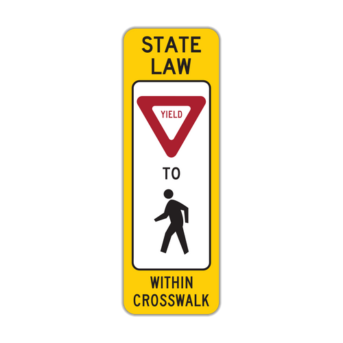 R1-6 In-Street Pedestrian Crossing