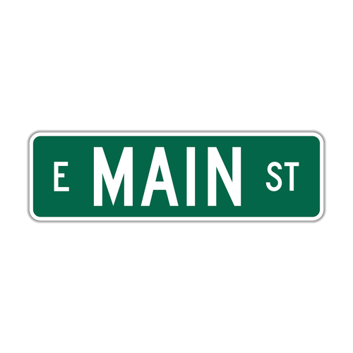 "6"" Flat Aluminum Street Name Sign"
