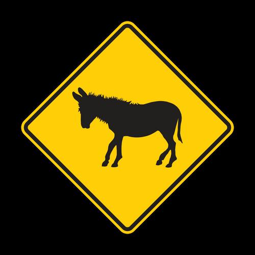 W11-19 Donkey