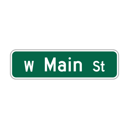 """8"""" Flat Aluminum Street Name Sign"""