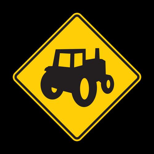 "12"" W11-5a Farm Vehicle"