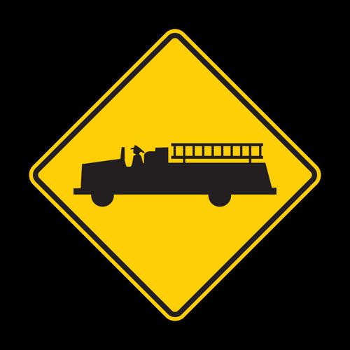 "12"" W11-8 Emergency Vehicle"