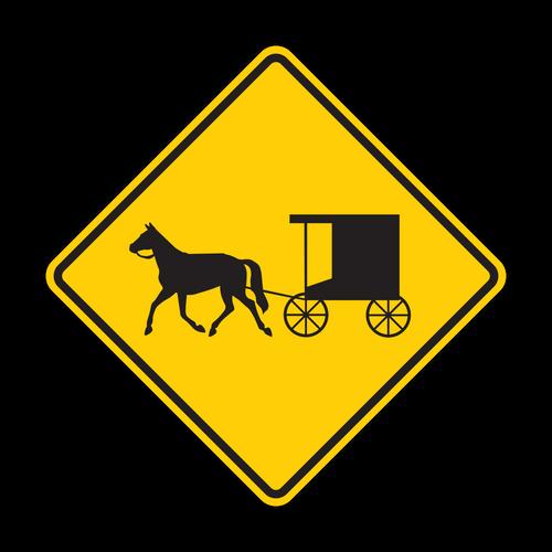 "12"" W11-14 Horse-Drawn Vehicle"