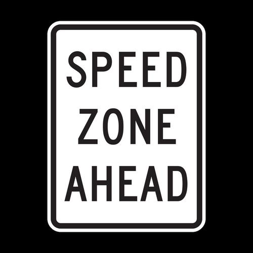 HR2-5c Speed Zone Ahead