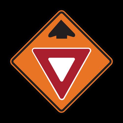 W3-2 Yield Ahead (Construction)