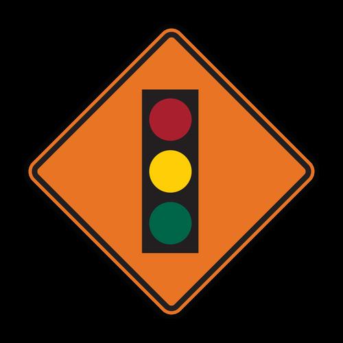 W3-3 Signal Ahead (Construction)