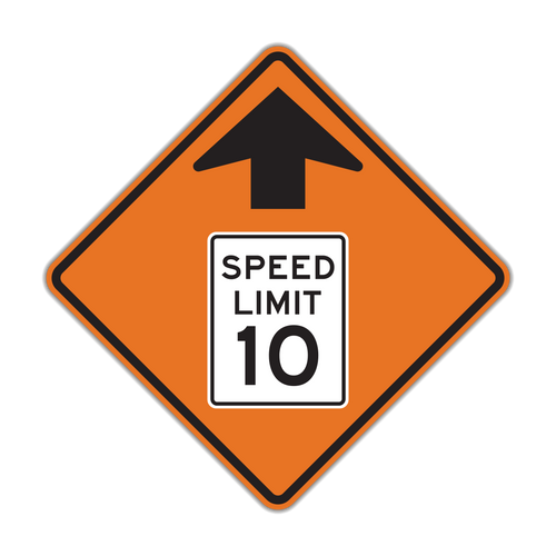 W3-5 Reduced Speed Limit Ahead (Construction)