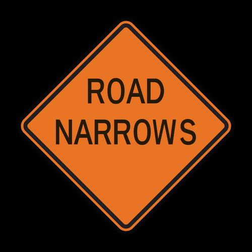 W5-1 Road Narrows (Construction)
