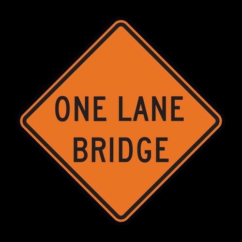 W5-3 One Lane Bridge (Construction)