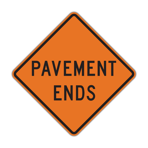 W8-3 Pavement Ends (Construction)