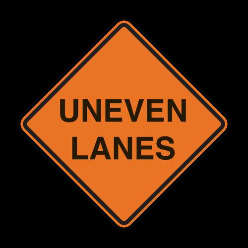 W8-11 Uneven Lanes (Construction)