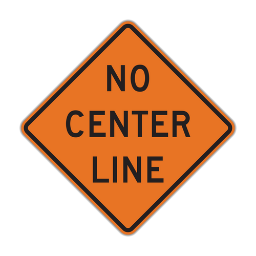 W8-12 No Center Line (Construction)
