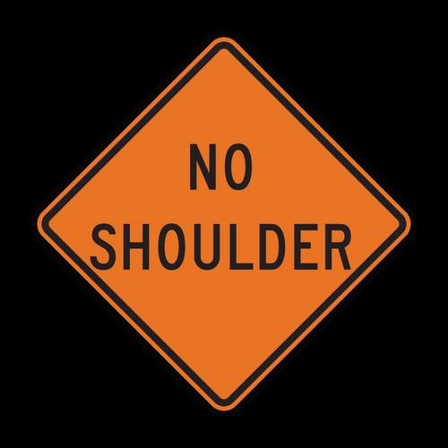 W8-23 No Shoulder (Construction)