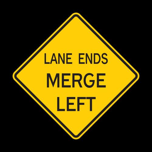 W9-2 Lane Ends Merge