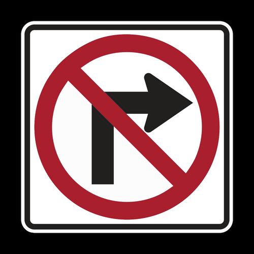 R3-1 No Right Turn