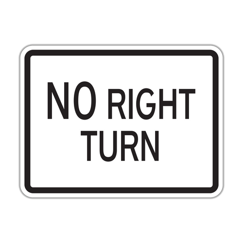 HR3-1P No Right Turn