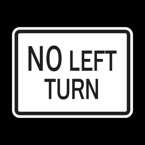 HR3-2P No Left Turn