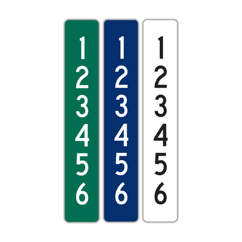 "6"" x 36"" Reflective 911 Address Sign (6 Digits)"