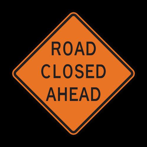 W20-3 Road Closed