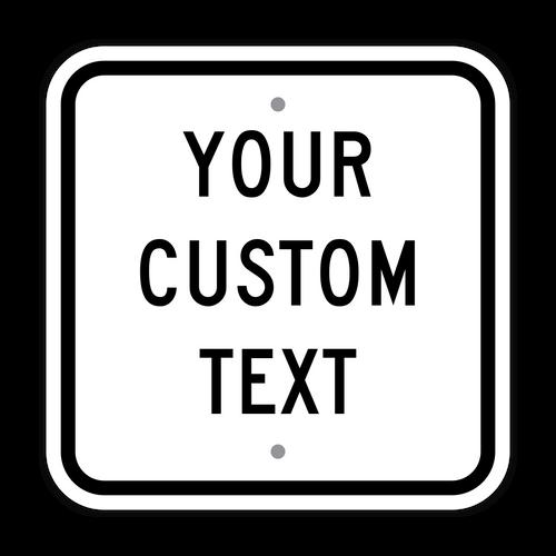 "12"" Square Custom Sign"