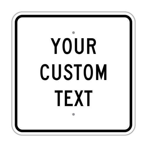 "18"" Square Custom Sign"