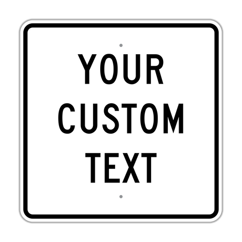 "24"" Square Custom Sign"