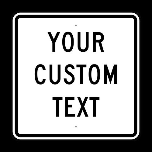 "30"" Square Custom Sign"