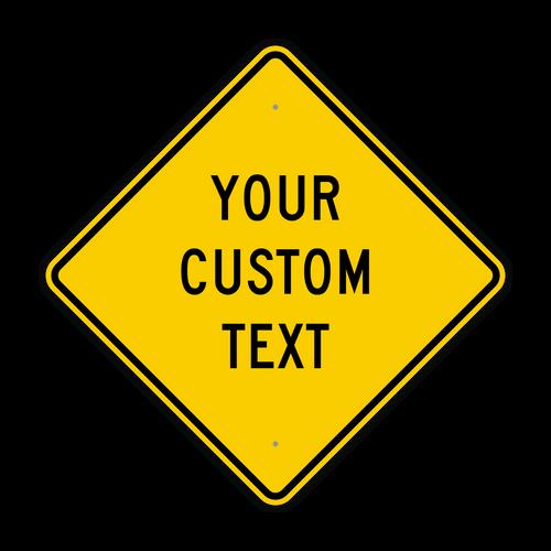 "24"" Diamond Custom Sign"
